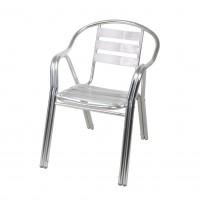 Scaun pentru gradina 40268-PRO, aluminiu, gri