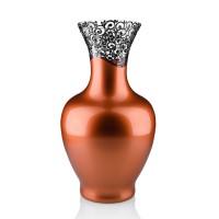 Vaza sticla decorativa, Elise 5/15, cupru + bronz, 32 x 18 cm