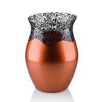 Vaza sticla decorativa, Elise VG22/15, cupru + bronz, 22 x 16 cm
