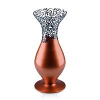Vaza sticla decorativa, Elise 192-03/15, cupru + bronz, 28 x 12 cm