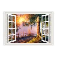 Tablou TA19-PA0075, compozitie cu peisaj, canvas, 50 x 70 cm