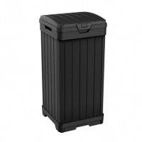 Cos pentru gunoi Baltimore, cu capac, pentru exterior, negru, 125 l