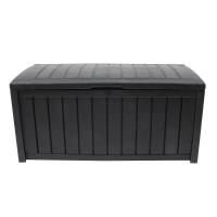 Lada depozitare, pentru gradina Glenwood, plastic, antracit, 390 l, 128 x 65 x 61 cm