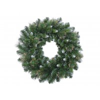 Coronita Craciun, verde, 61 cm, W24-115TIN-YE