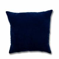 Perna decor Hazan 35, poliester + fibra poliester siliconizata, albastru, 43 x 43 cm