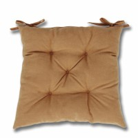 Perna scaun Hazan 06, poliester + fibra poliester siliconizata, bej, 43 x 43 cm