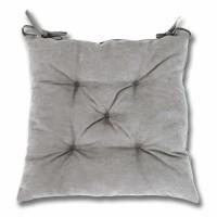 Perna scaun Hazan 18, poliester + fibra poliester siliconizata, gri, 43 x 43 cm