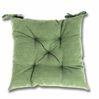 Perna scaun Hazan 28, poliester + fibra poliester siliconizata, verde, 43 x 43 cm