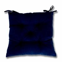 Perna scaun Hazan 35, poliester + fibra poliester siliconizata, albastru, 43 x 43 cm