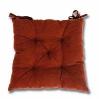 Perna scaun Hazan 44, poliester + fibra poliester siliconizata, maro, 43 x 43 cm