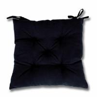 Perna scaun Hazan 51, poliester + fibra poliester siliconizata, negru, 43 x 43 cm
