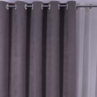 Draperie Linen Uni SX1715 Maro 24, poliester, maro, H 280 cm