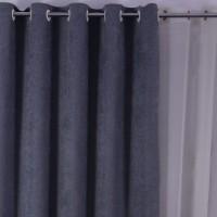 Draperie Linen Uni SX1717, poliester, turcoaz, H 280 cm