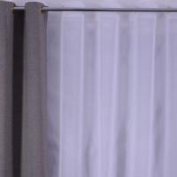 Perdea Sable GY S02, poliester, alb, H 280 cm