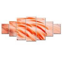 Tablou canvas, dualview, pe panza, 7MULTICANVAS174, Pene de flamingo, 7 piese, 100 x 240 cm