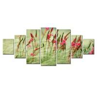 Tablou dualview 7MULTICANVAS150, 7 piese, Verdeata colorata, canvas + lemn de brad