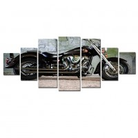 Tablou dualview 7MULTICANVAS086, 7 piese, Motocicleta Yamaha, canvas + lemn de brad