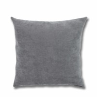 Perna decor Hazan 69, poliester + fibra poliester siliconizata, gri, 50 x 50 cm