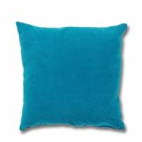 Perna decor Hazan 84, poliester + fibra poliester siliconizata, turquoise, 50 x 50 cm
