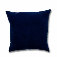 Perna decor Hazan 35, poliester + fibra poliester siliconizata, albastru, 50 x 50 cm