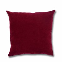 Perna decor Hazan  41, poliester + fibra poliester siliconizata, rosu, 50 x 50 cm