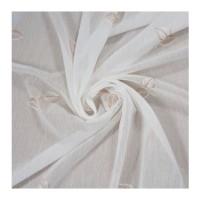Perdea SN Deco, 2010/1, imitatie in, broderie, alb, H 280 cm