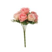 Buchet flori artificiale, YWGQ112, roz, 34 cm