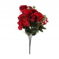 Buchet flori artificiale, YWGQ113, rosii, 48 cm