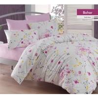 Lenjerie de pat, Bahar, 2 persoane, bumbac 100 %, 4 piese, cu imprimeu floral