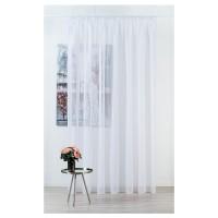 Perdea Mendola Fabrics, model Pythia, Jade, batist, alb, H 305 cm
