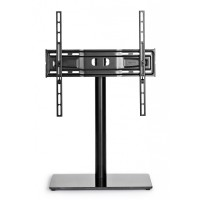 Stand TV LCD / LED, Meliconi Stand 400, reglabil, 81 - 140 cm, 30 kg, sticla securizata + aluminiu, 40 x 24 x 48.6 cm