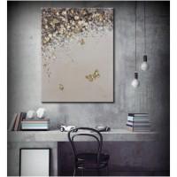 Tablou 181140-7, compozitie cu fluturi, canvas, 60 x 90 cm