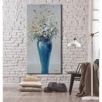 Tablou, compozitie cu flori, canvas, 50 x 100 cm