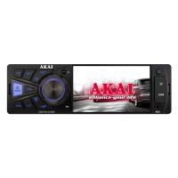 Radio auto Akai CA015A-4108S, 4 x 25 W, 1 DIN, Bluetooth, USB, slot card SD / MMC, Aux in, egalizator, display TFT 4 inch, telecomanda