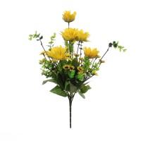 Buchet flori artificiale DZ0056, floarea soarelui, 40 cm