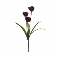 Floare artificiala BR028, lalele, diverse culori, 48 cm