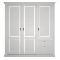 Dulap dormitor Clemence A3PT, gri deschis, 3 usi, 193 x 60 x 200 cm, 4C