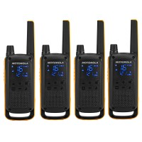Statie radio emisie / receptie PMR portabila Motorola Talkabout T82 Extreme Quad, set 4 bucati, blocare tastatura, squelch digital, Roger Beep, scanare canale, Dual watch, monitorizare canale