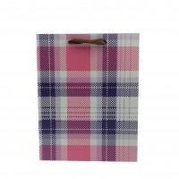 Punga cadou KDYL03 S, din carton, roz + negru, 18 x 23 x 10 cm