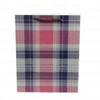 Punga cadou KDYL03 M, din carton, roz + negru, 26 x 32 x 10 cm