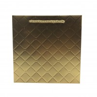 Punga cadou KDLWG S, din carton, aurie, 20 x 20 x 8 cm