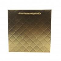 Punga cadou KDLWG L, din carton, aurie, 34 x 34 x 12 cm