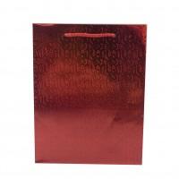 Punga cadou  HBR XL, din carton, rosie, 29 x 38 x 9 cm