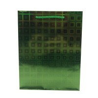 Punga cadou HBG L, din carton, verde, 26 x 32 x 9 cm