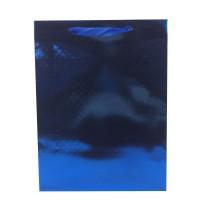 Punga cadou HBPG XS, din carton, albastra, 11.5 x 14.5 x 6.5 cm