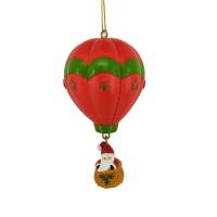 Decoratiune Craciun, tip balon cu aer cald, rosu + verde + alb, AK691908