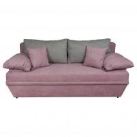 Canapea extensibila 3 locuri Alice, cu lada, roz prafuit + gri deschis, 190 x 95 x 80 cm, 2C