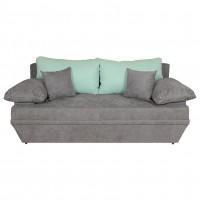 Canapea extensibila 3 locuri Alice, cu lada, gri inchis + verde menta, 190 x 95 x 80 cm, 2C