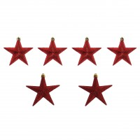 Stelute Craciun, rosii, 9 cm, set 6 bucati, N3/L19206Y