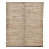 Dulap dormitor Valens 180, stejar gri, 2 usi glisante, 178 x 58 x 216.5 cm, 6C